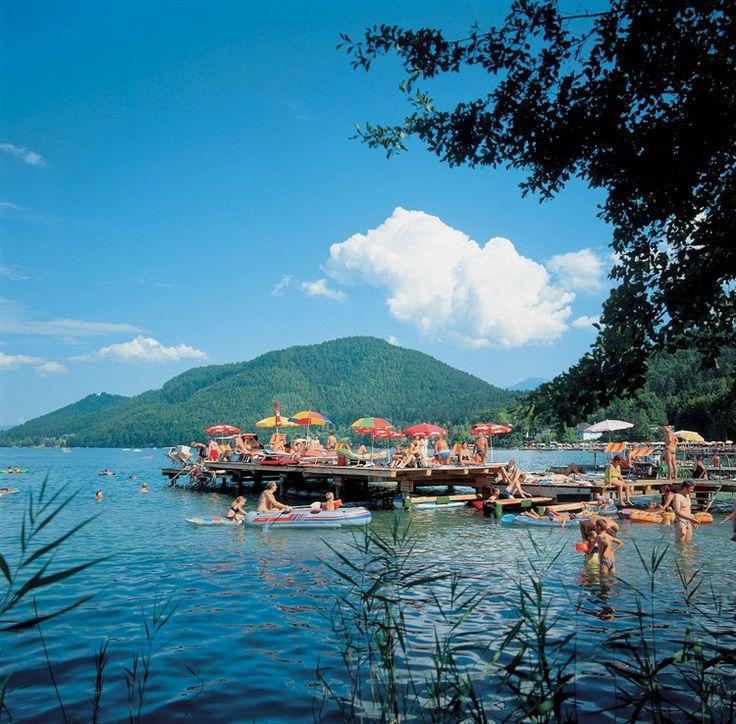 #Klopeiner See mit Gracarca und Georgiberg, Carinthia in the summer, Austria