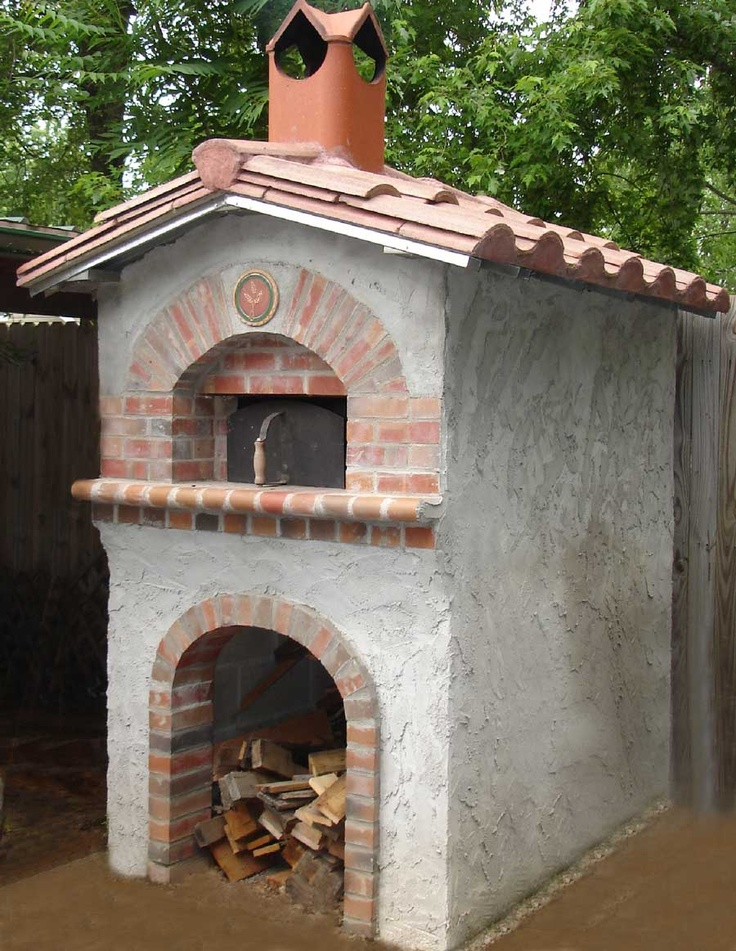 Bake oven with dry wood storage below. you can make it an earth oven then build wht ever u want around it. like brick, stone, concrete just wht ever.
