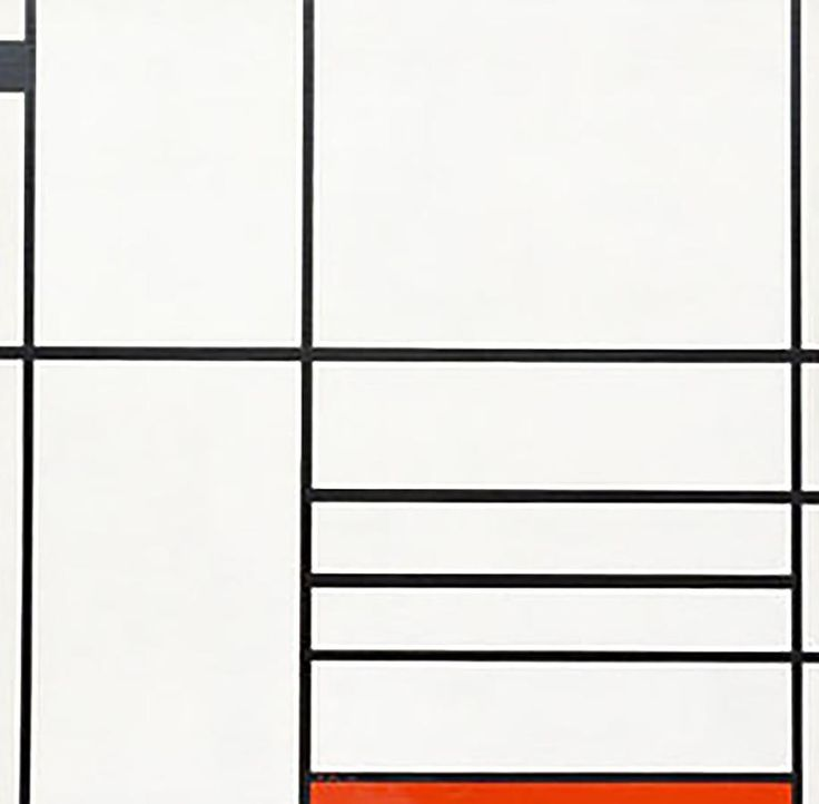 "Michael Snow belongs to a generation of artists that was truly inspired by early twentieth-century European art. Piet Mondrian, ""Composition en blanc, noir et rouge,"" 1936, Museum of Modern Art."