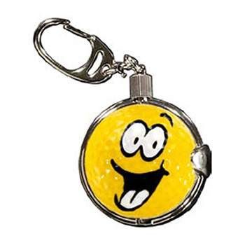 Golf Gifts Keyring with Removable Smiley Face Premium Golf Ball at golfessentials.in