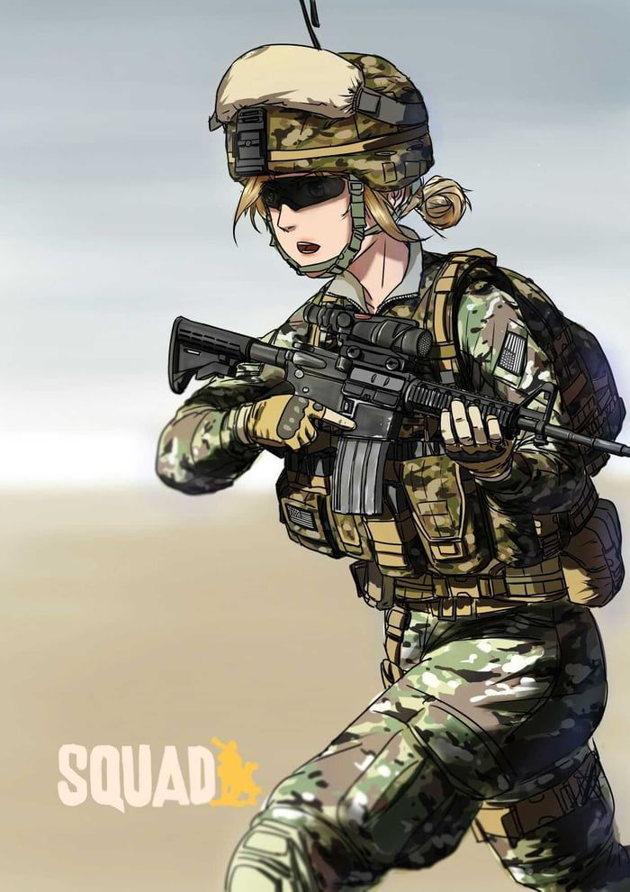 Anime Girls With Guns Part 127 Anime Warrior Girl Anime