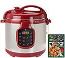 I love this!!  Lots of neat colors too!!//CooksEssentials 6 qt. Round Digital Stainless Steel Pressure Cooker — QVC.com