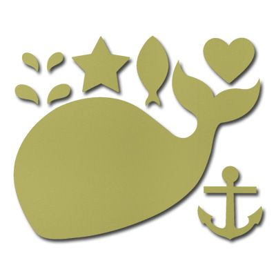 "stencil/ die-cut patterns: Nautical patterns/ graphics for wee ones: whale, anchor, star, fish, heart  - handcrafted card ideas from ""Stampin' Up"""