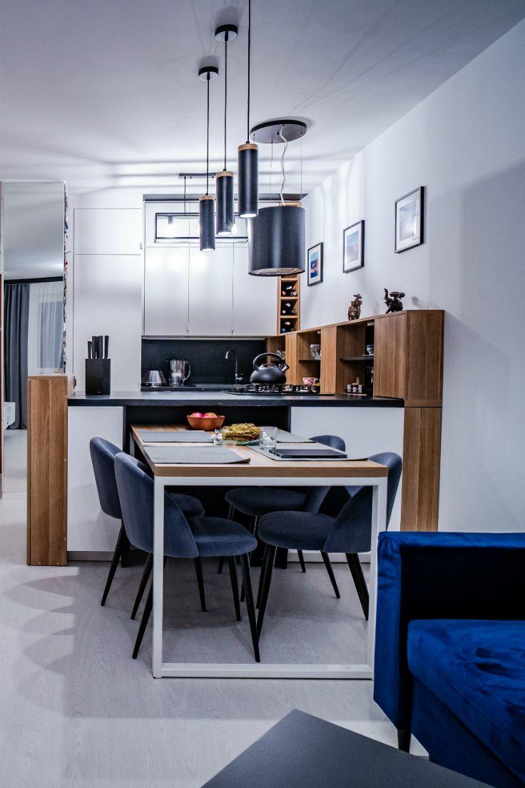 Biala Kuchnia Z Drewnem Kitchen Room Design Home Decor Room Design
