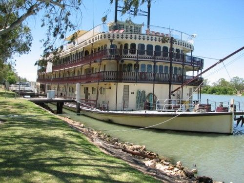 Murray Princess Paddle wheeler, on the Murray River, Mannum. South Australia.