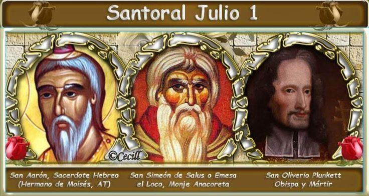 Vidas Santas: Santoral Julio 1