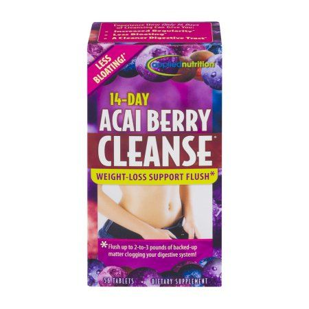 Applied Nutrition 14-Day Acai Berry Cleanse Weight-Loss Support Flush Tablets - 56 CT, Multicolor