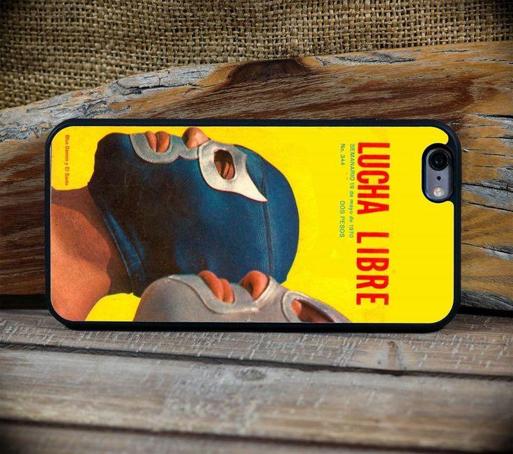 Retro Lucha Libre Yellow Magazine Poster Art  - iPhone 6 or 6S+ custom case #ArtofPhone