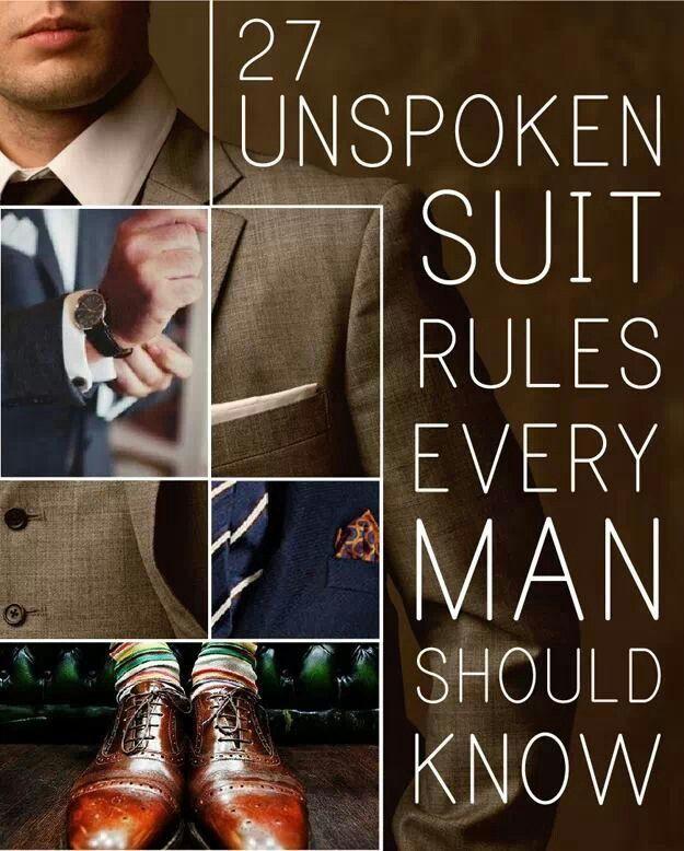 Men's suit rules