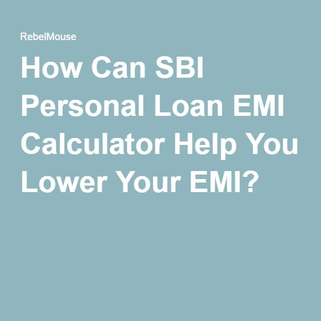 How Can SBI Personal Loan EMI Calculator Help You Lower Your EMI?