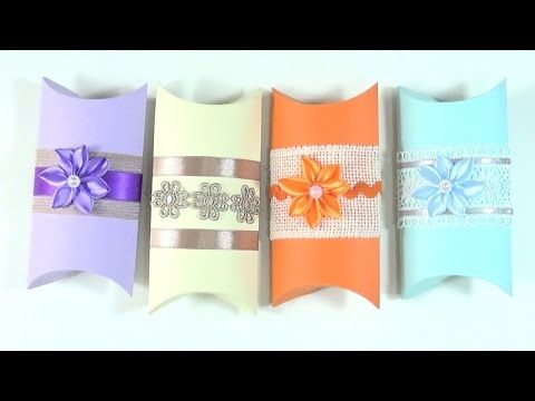 TUTORIAL: Cómo hacer cajas de regalo | How to make a Pillow Box - YouTube