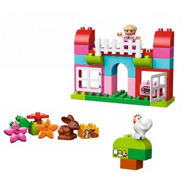 LEGO DUPLO - Cutie roz completa pentru distractie (10571), jucarii LEGO ieftine de Craciun