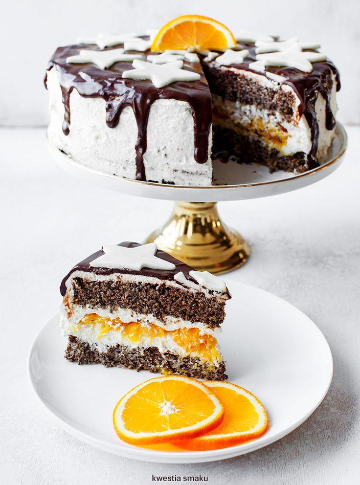 Tort makowy z pomarańczami