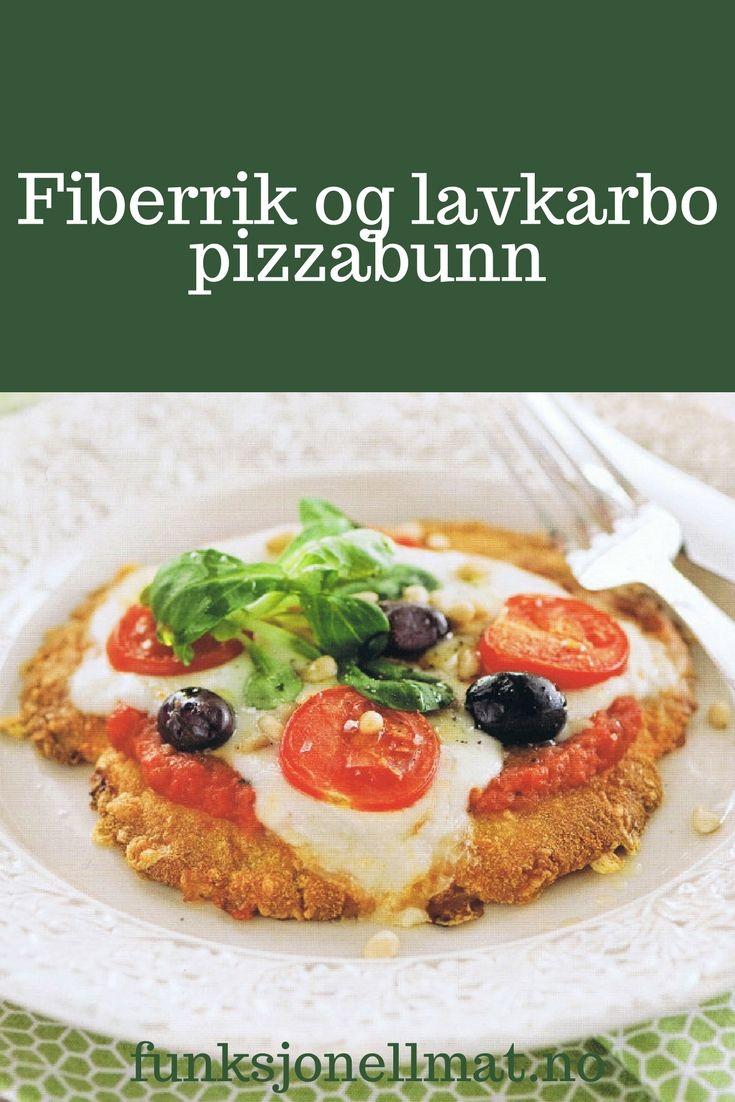 Lavkarbo pizzabunn - Funksjonell Mat | Lavkarbo oppskrifter | Lavkarbo middag | Lekker middag | Sunn middag