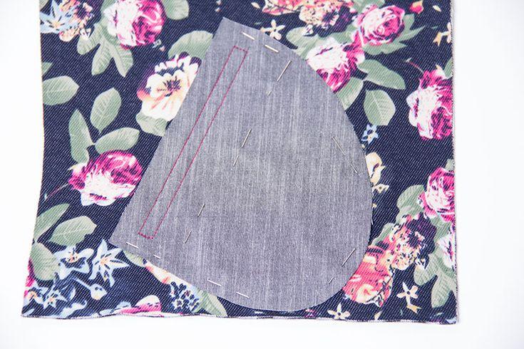 Anleitung Reißverschlusstasche nähen für Blousons, Jacken, Mäntel, Hosen und mehr - Tutorial mit Fotos und Schnittmuster
