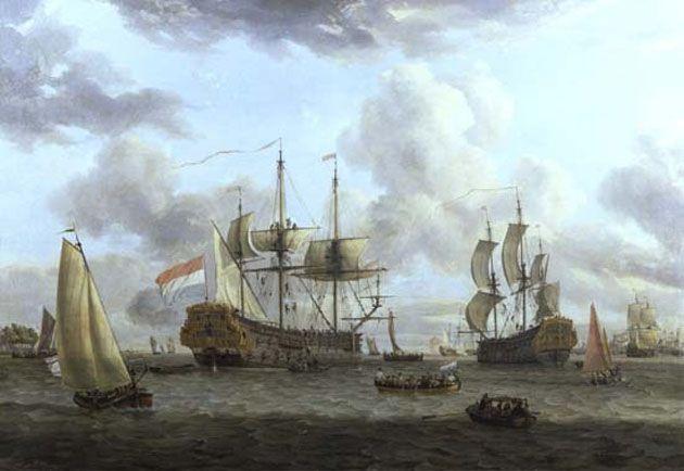 Dutch shipping scene