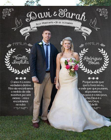 Painel Chalkboard Casamento