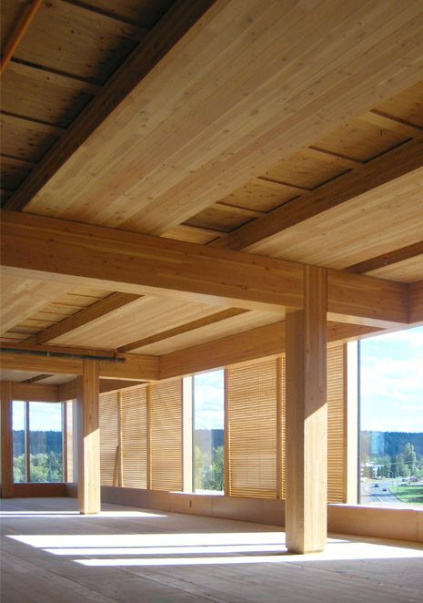wood innovation and design centre by michael green the worlds tallest contemporary wooden structure the cedar cladding has been charred to reduce flame - Innovative Wood Beam Ceiling