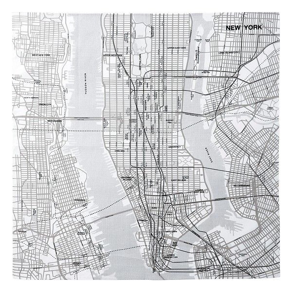 Check Out These Cool City Map Handkerchiefs From Muji 12 95 Http