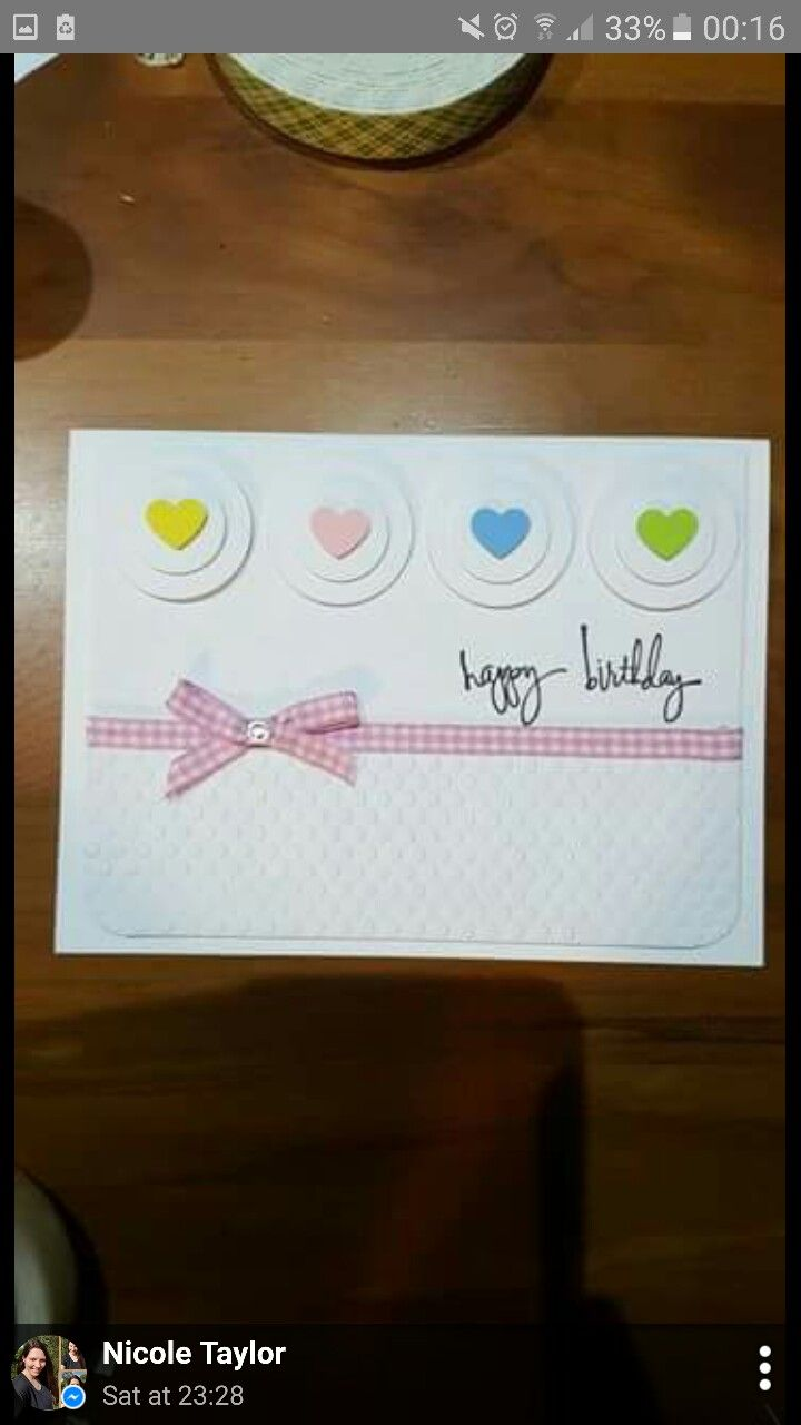 Happy birthday card pritty in pink