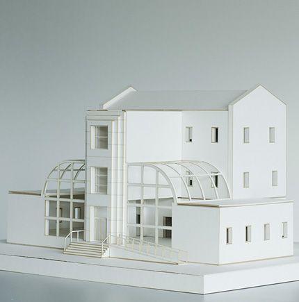 Architecture models, laser cut, cardboard