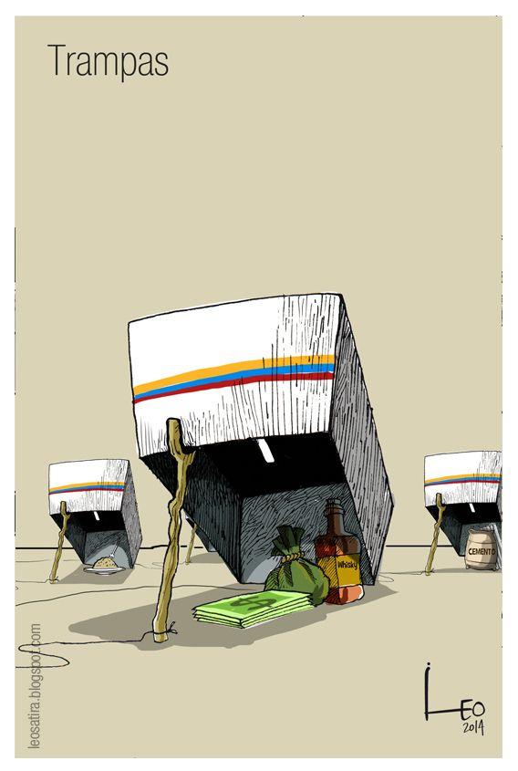 Elecciones 2014 y su compra de votos caricatura de Leo, Caricaturas - Semana.com