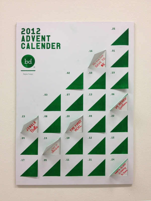 Typography Advent Calendar : Typographic advent calender by william suckling via