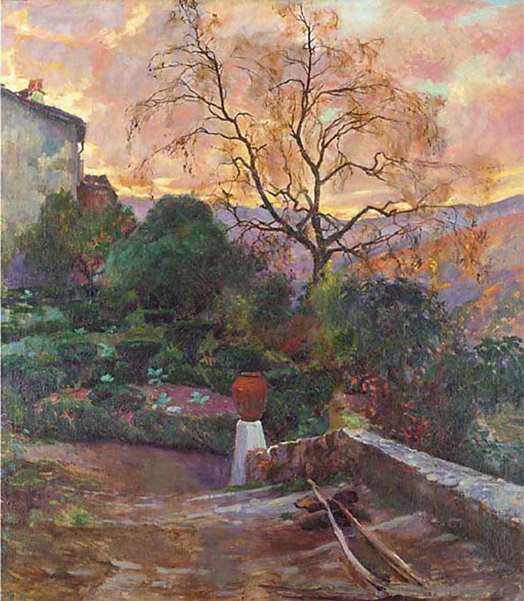 Joaquín Sorolla - Jardín del español Granja