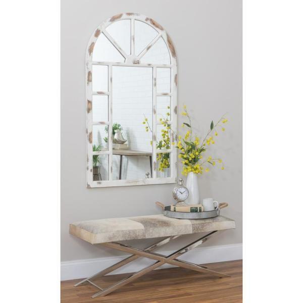 Aspire Home Accents Lara Farmhouse Arch Wall Mirror 5605 The Home Depot In 2020 Mirror Wall