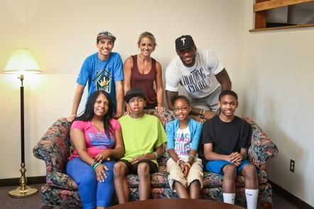 Renovation guru Nicole Curtis teamed up with NBA star LeBron James and his charitable foundation to make over a deserving Akron family's run-down house. See all the before-and-after photos here.
