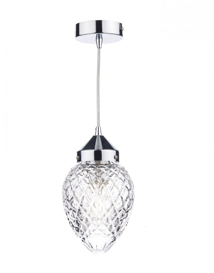 Dar AGA0150 Agatha 1 Light Pendant Polished Chrome