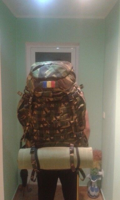 Big tactical rucksack made in Romania. Great for camping trips.