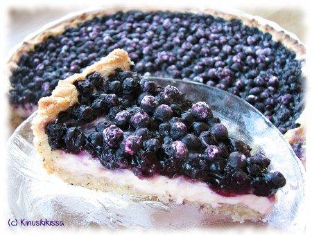 Blueberry Pie - mustikkapiirakka - kinuskikissa.fi