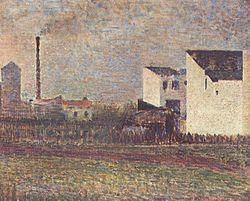 Periferia-Georges Seurat-(1881-82)-olio su tela-32,4×40,5 cm-conservato al Musée d'Art Moderne,Troyes