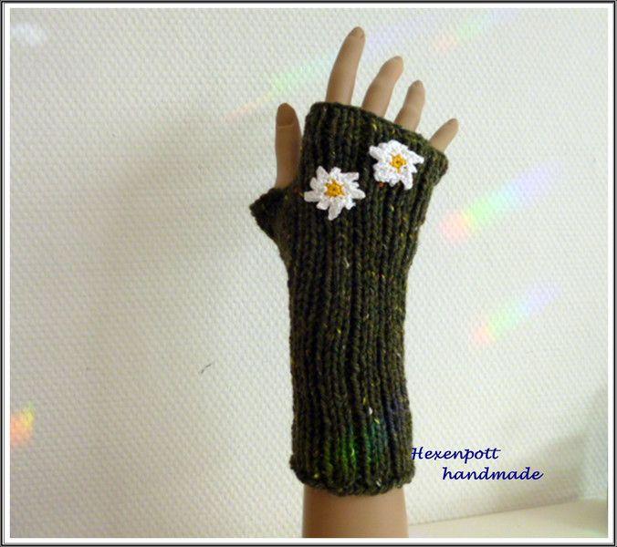 Armstulpen - Stulpen Tweed EDELWEISS II. - ein Designerstück von Hexenpott bei DaWanda