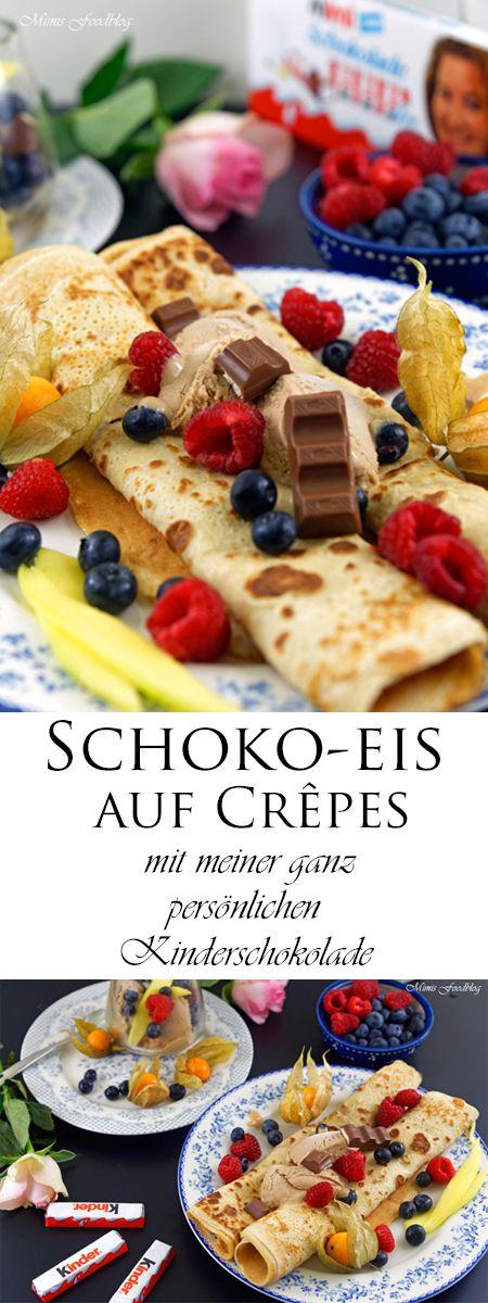 {Display} Schokoladeneis auf Crepes ~ mit meiner ganz eigenen Kinder Schokolade   – ****Beiträge auf Mimis Foodblog*****
