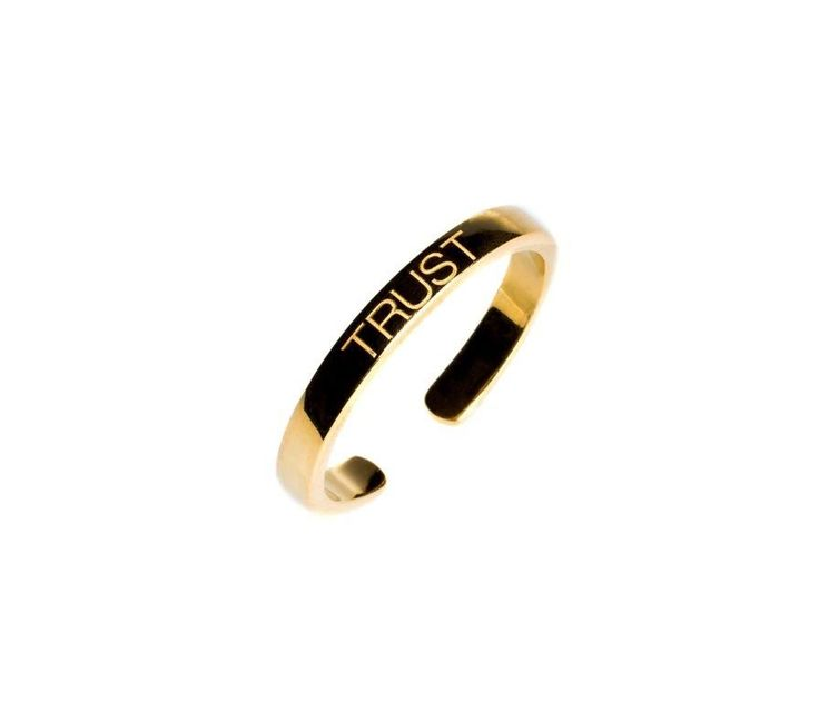 Power Quote TRUST Ring - HeidisHoff.no #gold #jewelry #designbyheidihoff