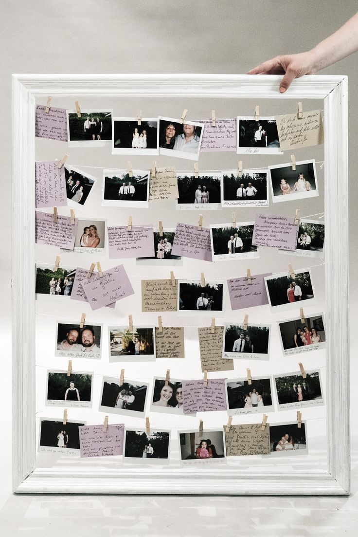 DIY wedding guestbook design: Polaroid & Vintage Flair