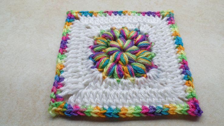 #Crochet Puffy Granny Square -Circle Start- Crochet tutorial