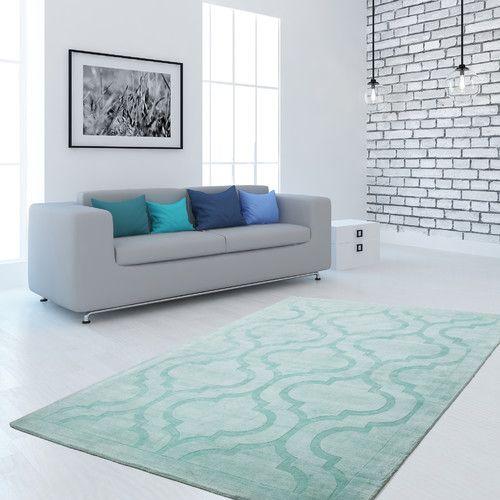 Gefunden bei Wayfair.de - Handgefertigter Teppich Aeon 700 in Mint-Grün