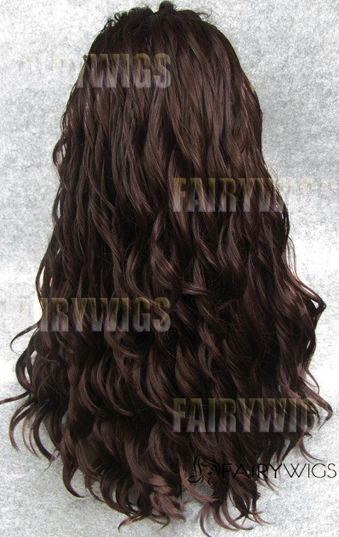 Ancient Long Sepia Female Wavy Lace Front Hair Wig 22 Inch