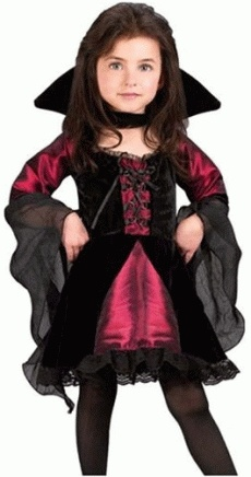 Girl Vampire Costume. Jaycie said she wants to be a pink/purple vampire. Going to be tuff to find!! :)