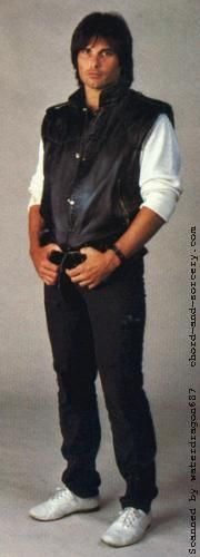 Jimi Jamison, circa 1984; detail from the rear cover of Survivor's VITAL SIGNS album