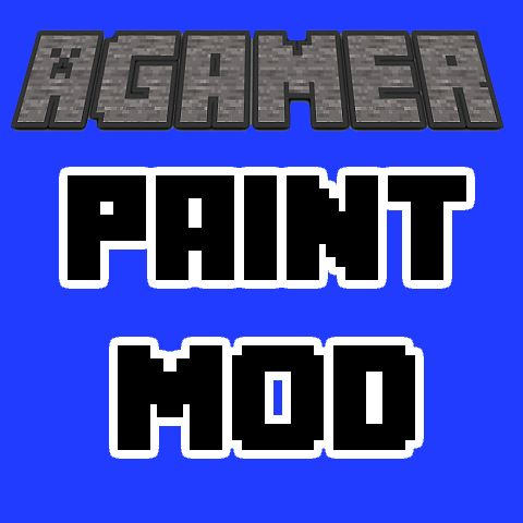Download AgameR Paint Mod Mod 1.13/1.12.2/1.11.2 - AgameR Paint Mod adds paintbrushes into Minecraft which let you paint your own creations...