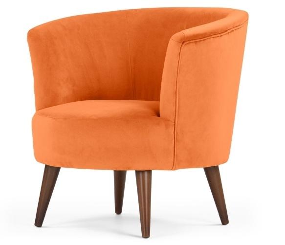 Lulu Scoop Chair, Chatelet Orange   made.com