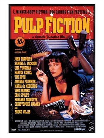 Gloss Black Framed Tarantino Classic - Pulp Fiction