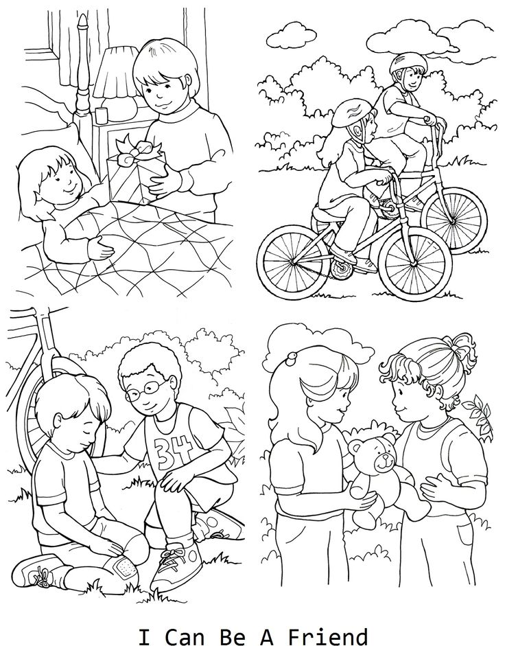 I Can Be A Friend Coloring Page For Lesson 33 Lds Lds Coloring Page