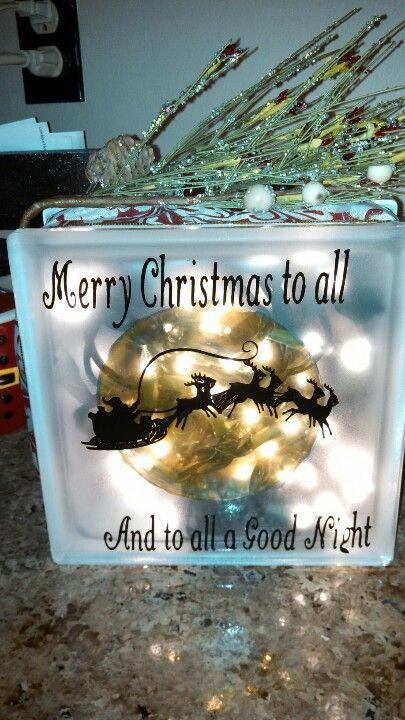 my Christmas glass block