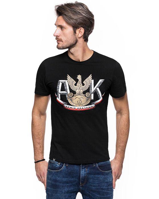 Koszulka patriotyczna Armia Krajowa (CZARNA)