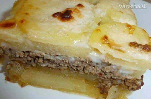 Zapekané zemiaky s mletým mäsom a bešamelom - Recept
